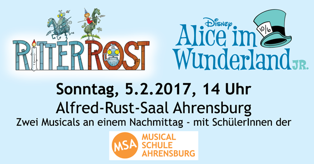 Alfred-Rust-Saal: Ritter Rost und Alice im Wunderland in einer Musicalshow. Foto: Fresh Connection