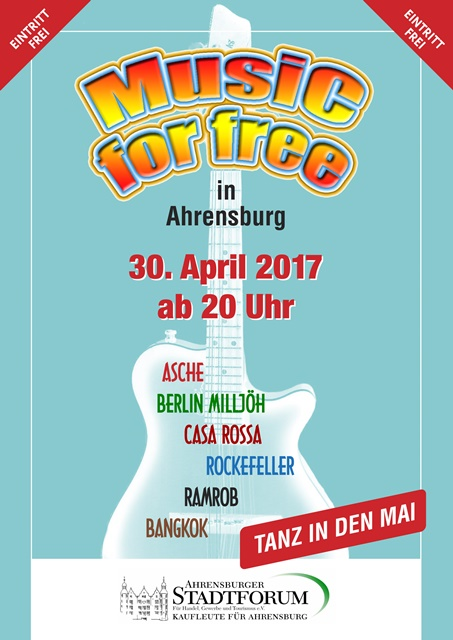 "Tanz in den Mai in Ahrensburg: ""Music for free"". Foto: Ahrensburger Stadtforum"